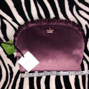 Kate spade dawn place velvet mercy cosmetic bag
